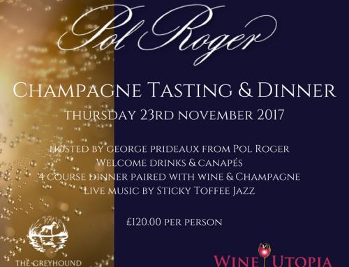 Pol Roger Champagne Dinner 23rd November